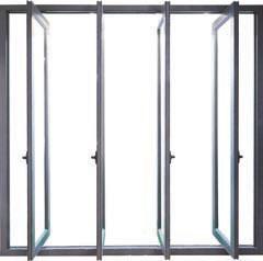 Aluminium swing and slide door opened